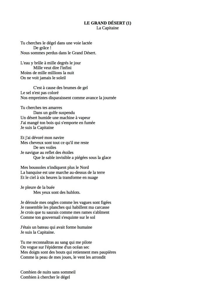 La Capitaine (poème) 1